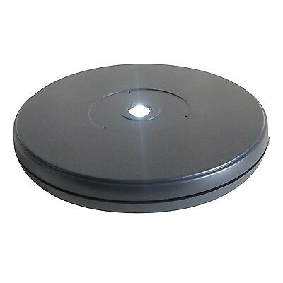Fotoconic Black Electric Motorized Rotating Turntable Display Stand with LED ...