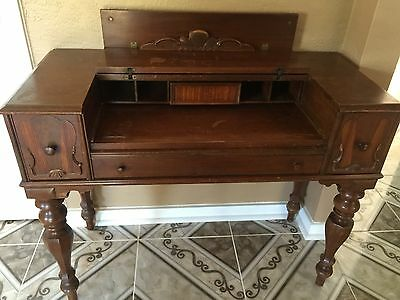Antique Vintage Spinet #851 Writing Desk Table 1900's Hekman Furniture Michigan