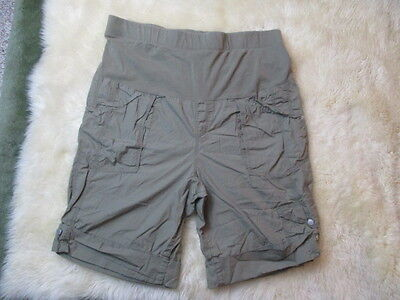 Motherhood Plus Size Maternity Green Cargo Cotton Casual Shorts Xl 18 18W!