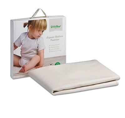 *The Little Green Sheep Organic Cotton Mattress Protector - 70 x 140cm CotBed*