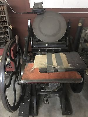 Chandler & Price platen press 1900's