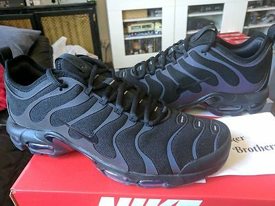 1ddd752b2 Nike Air Max Plus Ultra TN Tuned 1 Trainer Triple Black Anthracite 3M 898015 -002