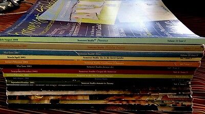 Lot of 15 SOMERSET STUDIO Magazine Early Issues 1998-2008