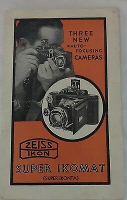 Zeiss Ikon Super IKonta Models A, C and D  Camera Vintage Sales Brochure