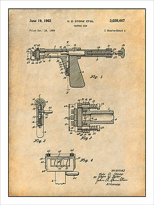 1959 Astatic Electro-Voice Microphone Patent Print Art Drawing Poster 18X24