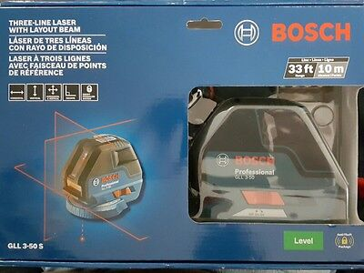 Bosch GLL 3-50 S Three-Line Laser with Layout Beam