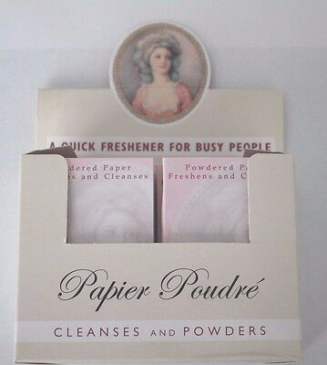 "Papier Poudre ""Rose"" Absorbent Blotting Face Papers oil control 12 x Booklets"