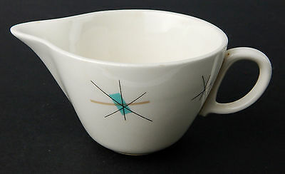 Salem North Star Mid Century Modern Creamer / Spout Cup Dish Turquoise