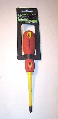 NEW - GREENLEE 0187-18I Phillips Insulated Screwdriver #2 x 4 in. Shank