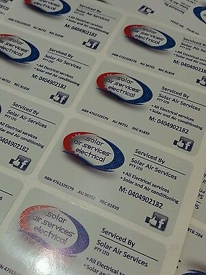 Qty 1000 business card type labels stickers