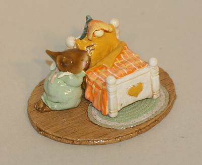Wee Forest Folk Night Prayer Frontier Gallery Special M-178 Mouse Praying