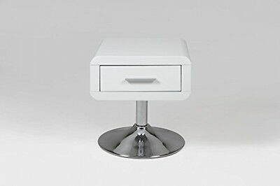 AC Design Furniture Josefine 47909 Bedside Table with Drawer High Gloss White
