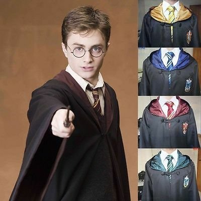Harry Potter Cloak Gryffindor/Slytherin/Hufflepuff/Ravenclaw Robe Cape Mantel