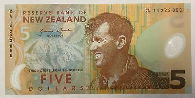 NEW ZEALAND 5 dollars bill POLYMER BANKNOTE UNC 1X , PREFIX: CA* OR BC*