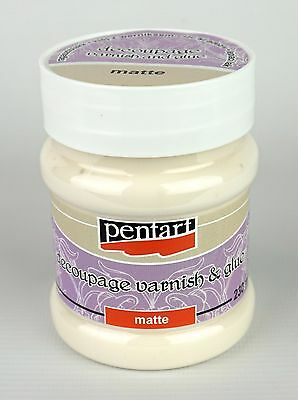 Pentart Decoupage Varnish and Glue Matte 100ml or 230ml Sealer Adhesive