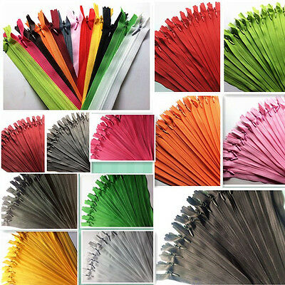 5-10pcs Nylon Invisible Soft tulle Coil Zippers Sewing 11/16/22inch