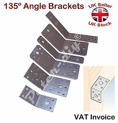 Galvanised Corner Brace 135 Degree Angle Bracket Joist Timber Mending Plates