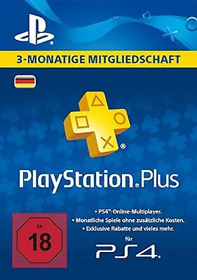 PlayStation Plus 90 Tage Karte Card PSN Network 3 Monate PS+ Code Sony DE Store