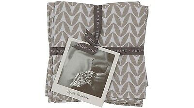 Aura Ena Napery Tapas Napkins in Funky Design from 100% Cotton (Set of 6)
