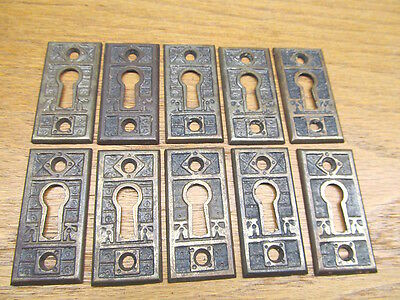 Old Keyhole Escutcheons Brass Plated