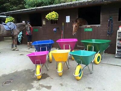 Heavy Duty High Quality Plastic Wheelbarrows with Puncture Proof Tyres