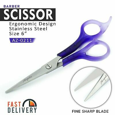 Moustache Scissors and Beard Trimming Scissors, Extremely Sharp - Black