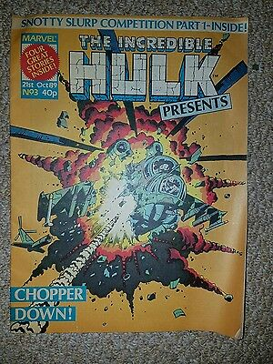 Marvel UK Comics The Incredible Hulk Issue No 3  1989