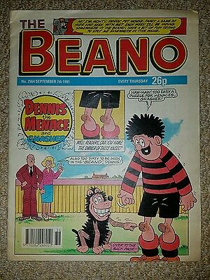 x2 Consecutive Beano Comics No's 2564 and 2565 Sept 7th and 14th 1991