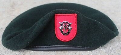 Authentic New US Army 7th Special Forces Group Green Beret, US Government Issue