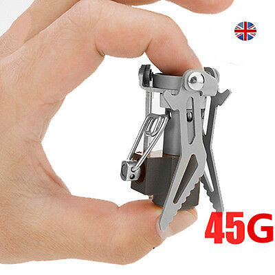 Portable Folding Mini Camping Stove Outdoor Gas Stove Survival Furnace Pocket UK