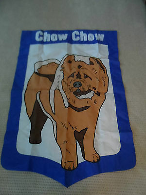"""NEW EVERGREEN FLAG CHOW CHOW  32"""" x 47.5"""" APPLIQUED"""