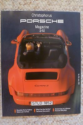 Porsche Christophorus Magazine English #236 June 1992 RARE!! Awesome L@@K