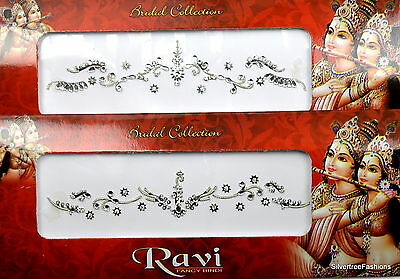 1 PACK of BRIDAL Silver **CHOOSE YOUR COLOUR** Indian  Gem TIKKA Festival BINDI