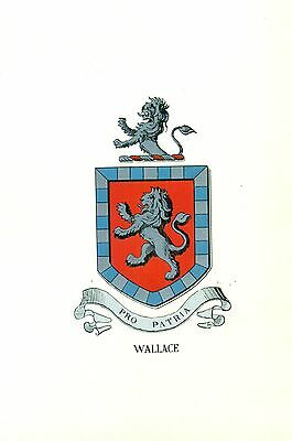 *Great Coat of Arms Wallace Family Crest genealogy, would look great framed!