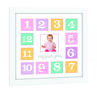 Tiny Ideas First Year Frame, Pink/Purple
