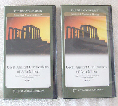 The Great Courses: Great Ancient Civilizations of Asis Minor- Parts 1 & 2 w/Book