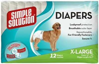 Simple Solution Disposable Dog Diapers Extra Large - 12 Pack