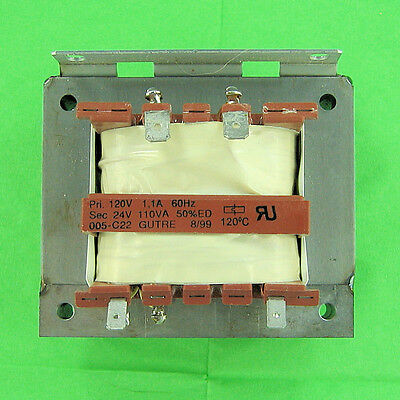 Transformer Heavy Duty 24 V AC 4 Amp 110VA, Input 120 VAC 120C Chassis Mount NEW