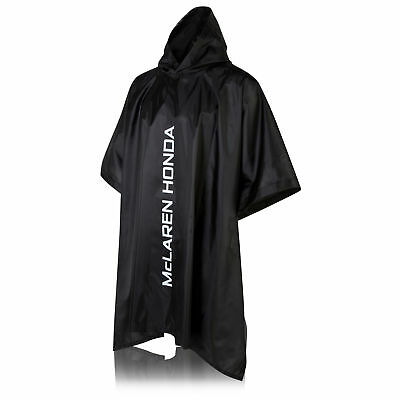 McLaren Honda Team Womens Ladies Poncho Black Waterproof Hooded Jacket Formula 1