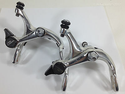 Shimano 105 BR-1050 Silver Front Rear Recessed Side Pull Road Brake Calipers