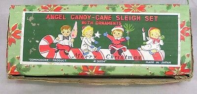 Vintage Christmas Commodore Box ONLY for Kids on Candy Cane Sled 1950s