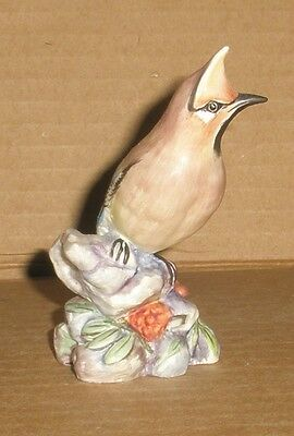 Bird Figurine Waxwing Royal Worcester