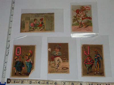 5 victorian store cards Partridge & Richardson Sollers Fine Shoes E. H. Worne's