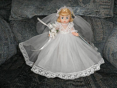 Vintage Madame Alexander Tagged Wendy Bride Doll - SLW, Molded/Painted Lashes