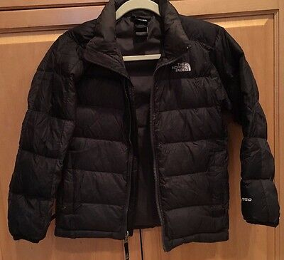 THE NORTH FACE 550 Black Down Puffer Winter Jacket Coat Boys Sz M 10 12