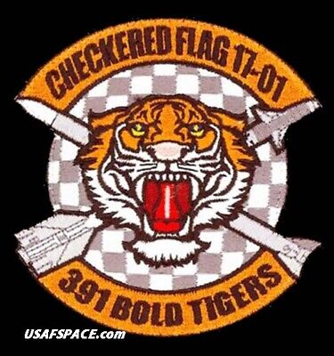 Usaf 391St Expeditionary Fighter Squadron -Checkered Flag 2017-01-Vel Patch Set