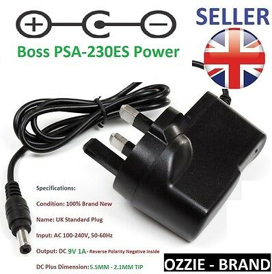 9V 1A AC/DC Power Supply Adaptor for Boss PSA-230ES also known as PSA-240