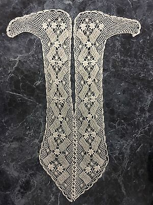 Lovely Lace Front Insert for Dress Blouse Shirt Ecru/Off White