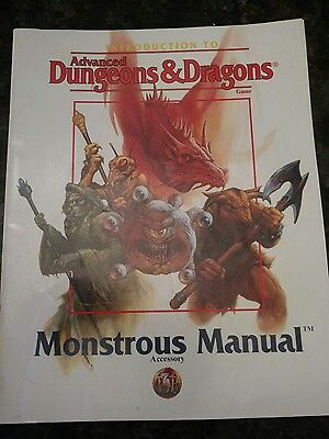 Introduction to Advanced Dungeons & Dragons Monstrous Manual Accessory 1995 Vtg
