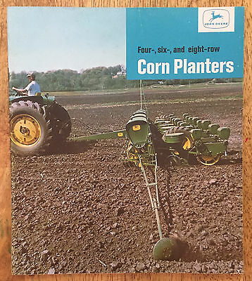 Vintage 1960's John Deere Corn Planters Brochure - Farm Advertising